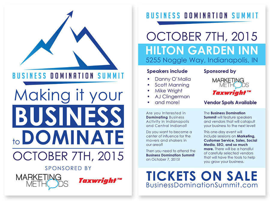 Business Domination Summit Ad Card Design by Ryan Sellick Marketing Methods Taxwright