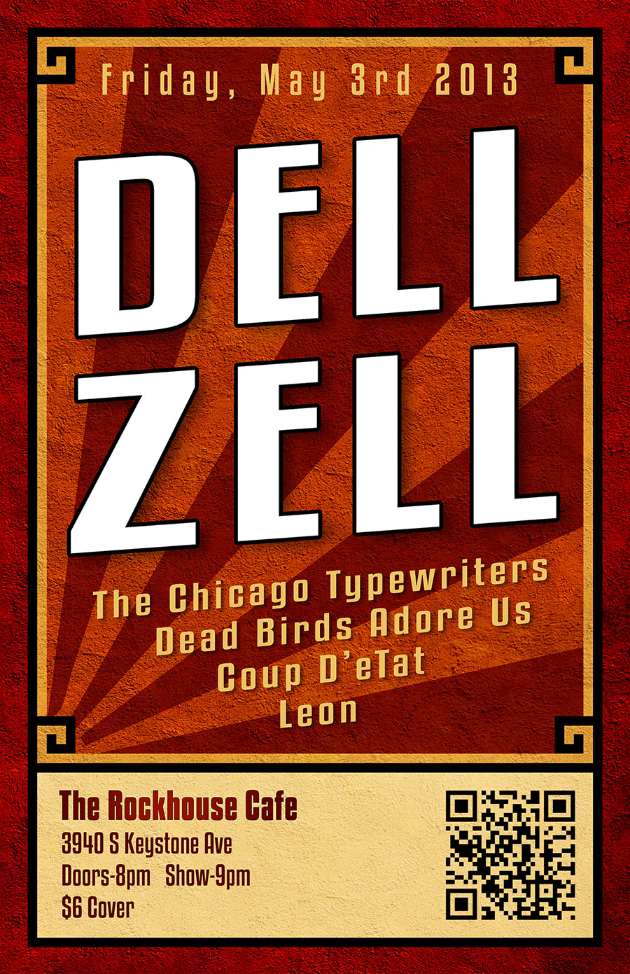 Dell Zell Concert Poster - Graphic Design by Ryan Sellick
