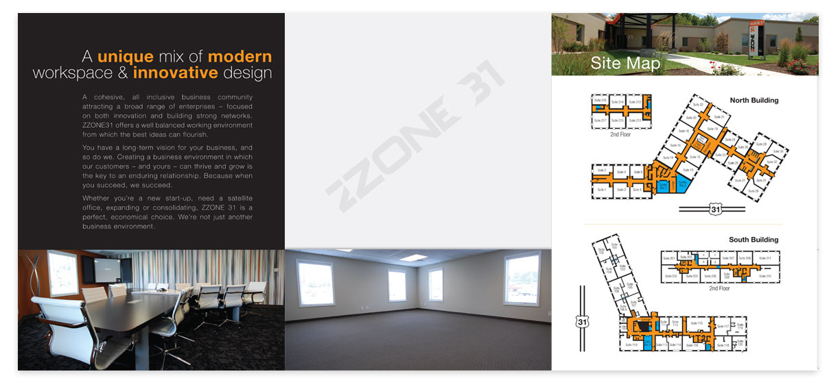 Zone 31 Folder Inside Graphic Design for Print by Ryan Sellick