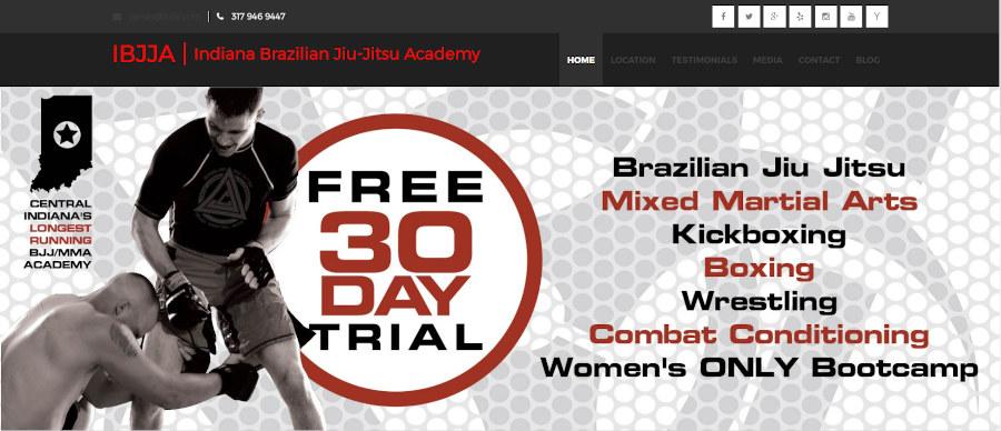 Screen capture of old IBJJA Web Design