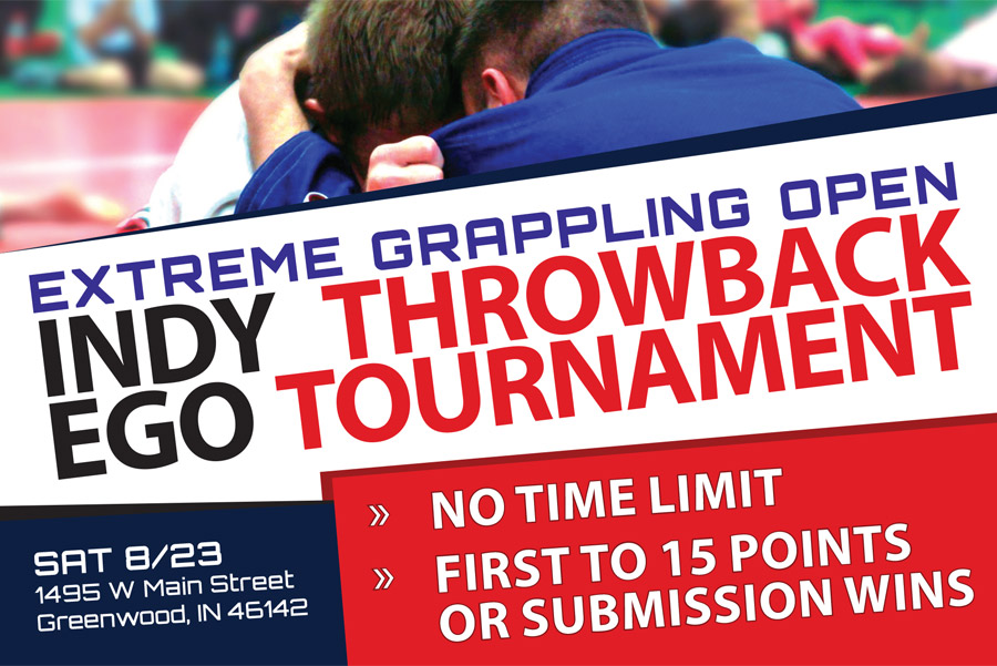 Extreme Grappling Open Throwback Brazilian Jiu-Jitsu Tournament Postcard Graphic Design 2014