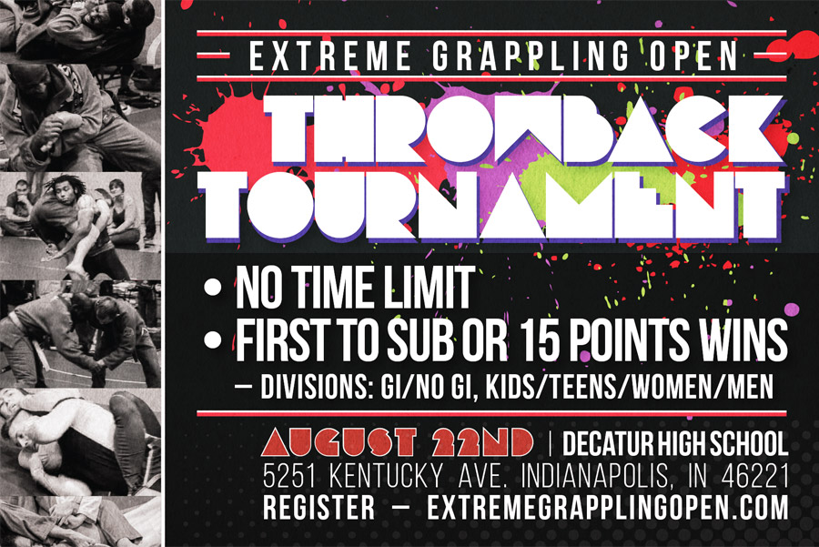 Extreme Grappling Open Throwback Brazilian Jiu-Jitsu Tournament Postcard Graphic Design