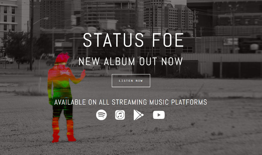 Screen Capture of the Status Foe website