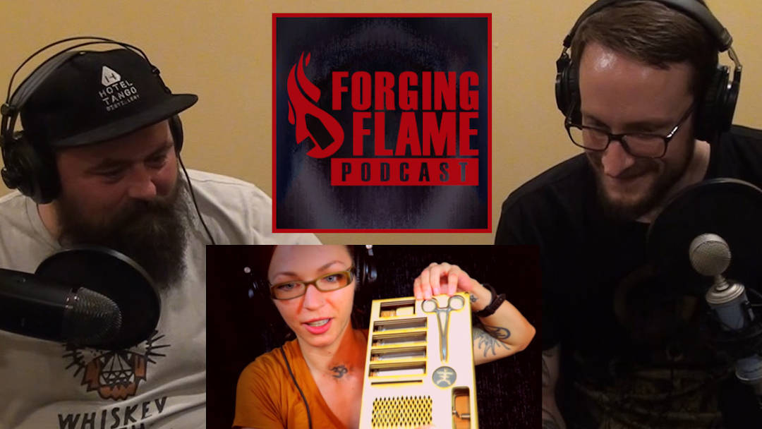 Photo of Ryan Sellick and Nick Hinton Podcasting with Jessica Haeckel on Forging Flame